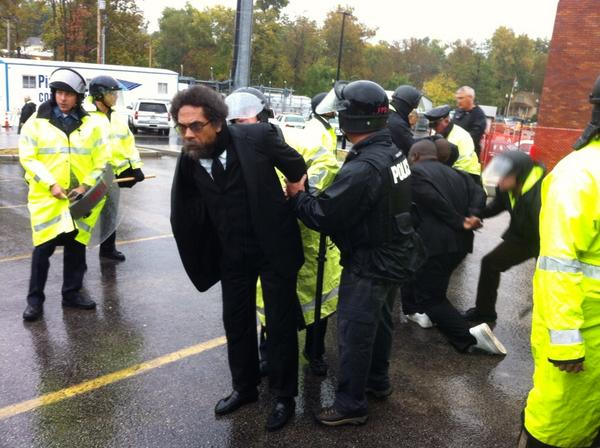 [Photos] Cornel West Arrested During Ferguson Protest