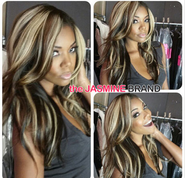 gabrielle union new blonde and brown highlights-the jasmine brand