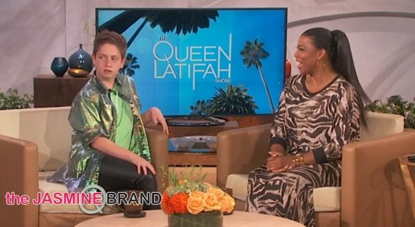 ii-Viral Sensation Brendan Jordan Visits Queen Latifah Showpng