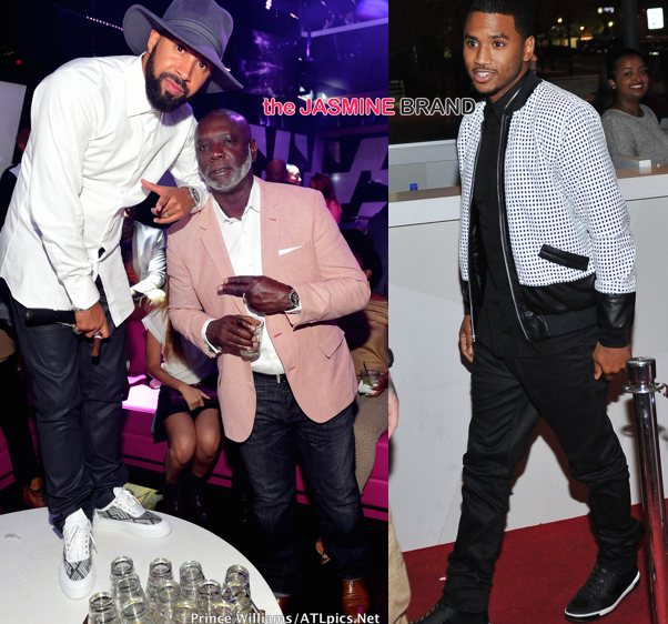Kenny Burns Celebrates Birthday With Trey Songz, Peter Thomas [Photos]