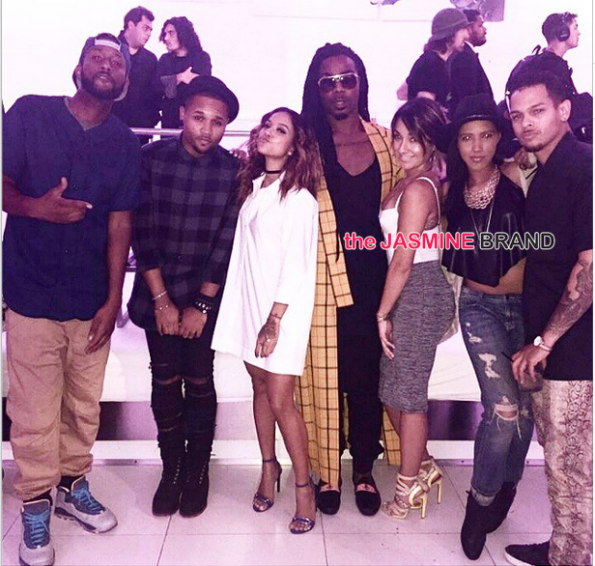 lil waynes girlfriend Christina Milian birthday party supper club 2014-the jasmine brand