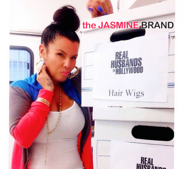 lisa b-on set real husbands of hollywood-the jasmine brand