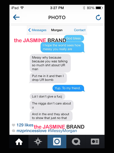 ray j girlfriend princess-assistant morgan hardman-argue on Twitter-the jasmine brand