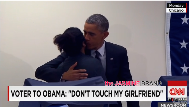 [WATCH] Man Tells President Obama: Don't touch my girlfriend.