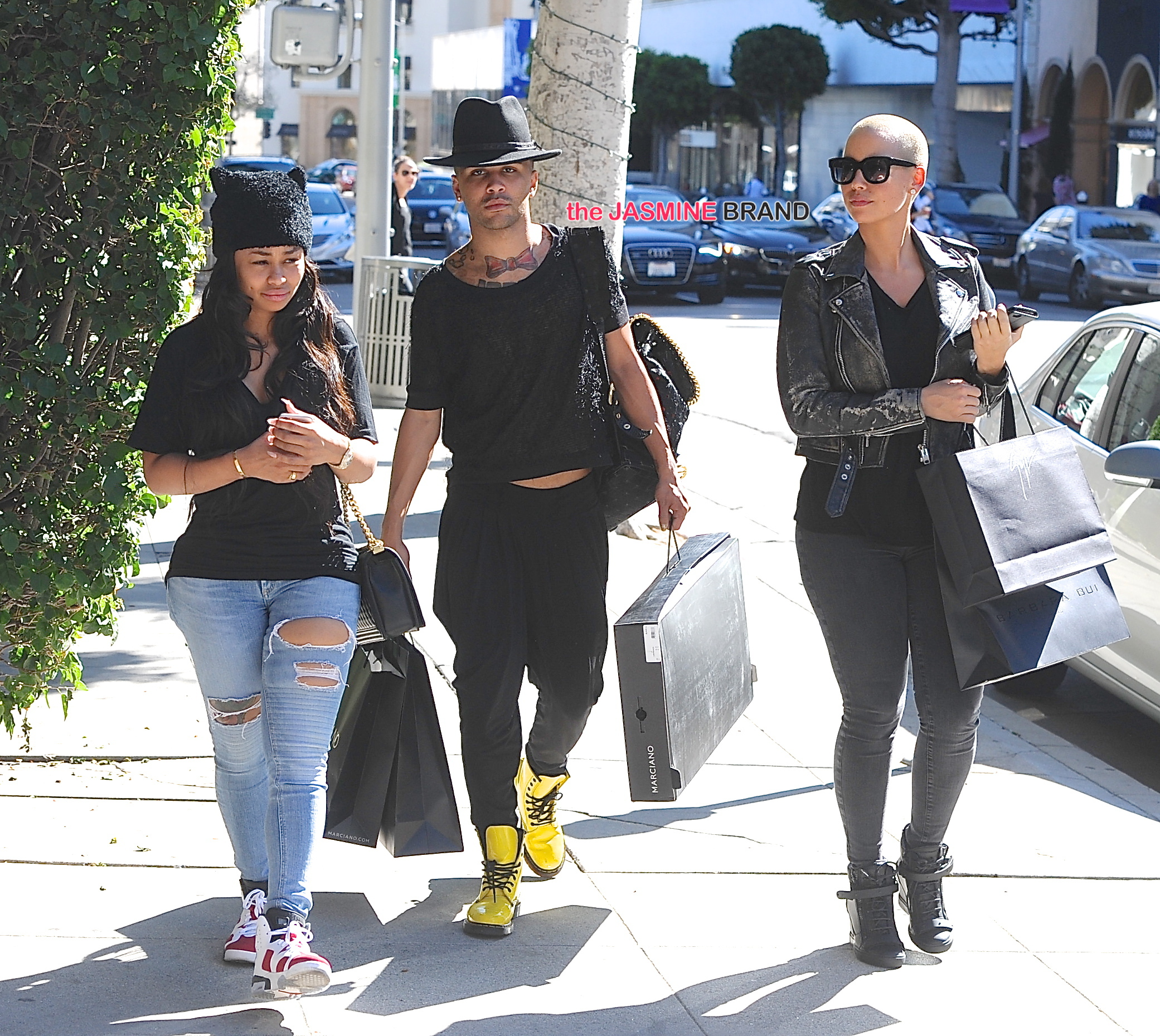 Amber Rose and Blac Chyna do some retail therapy in Beverly Hills