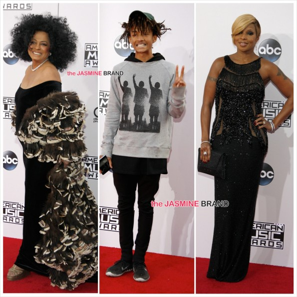 American Music Awards-Diana Ross-Jaden Smith-Mary J Blige-the jasmine brand