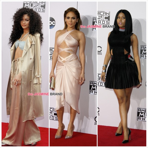 American Music Awards-Zendaya-JLo-Nicki Minaj-the jasmine brand