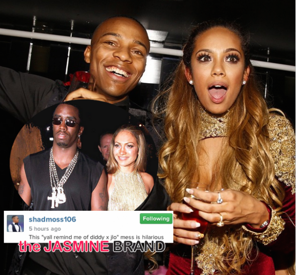 Bow Wow Shad Moss-Erica Mena-Compared to JLo Diddy-the jasmine brand