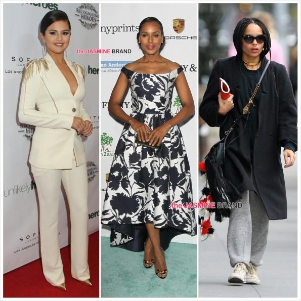 Celebrity Sightings-Selena Gomez-Kerry Washington-Zoe Kravitz-the jasmine brand