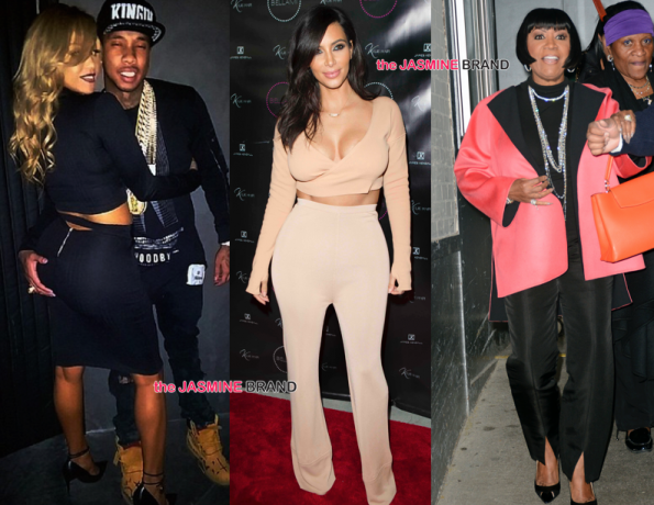 Celebrity Spottings-Tyga With Dollicia-Kim Kardashian-Patti Labelle-the jasmine brand