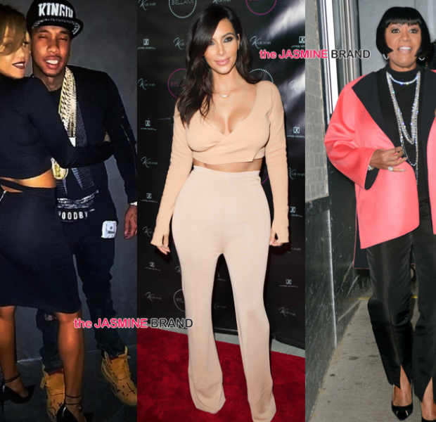Kim Kardashian Supports Sister's Extension Launch, Tyga Cozies Up to Drake's Ex, Patti Labelle Hits NYC + Usher & Girlfriend, K.Michelle & Ashantia [Photos]