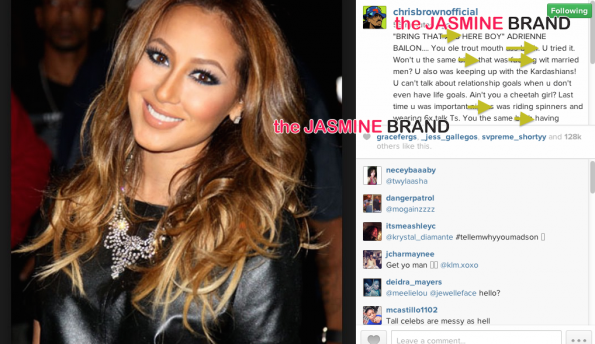 Chris Brown Blasts-Adrienne Bailon and Tamar Braxton-the jasmine brand