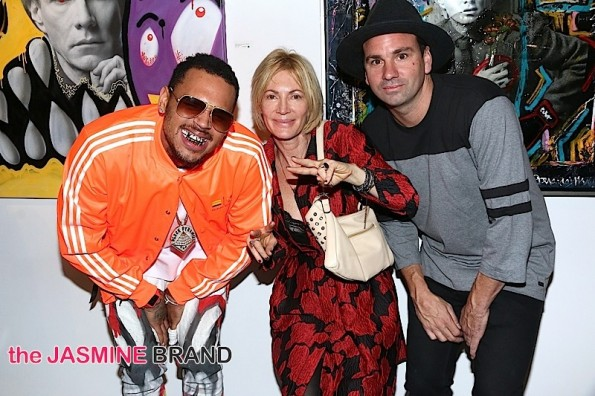 Karen Bystedt Collaborations with Chris Brown at Andy Goes Street Art Show on November 15, 2014