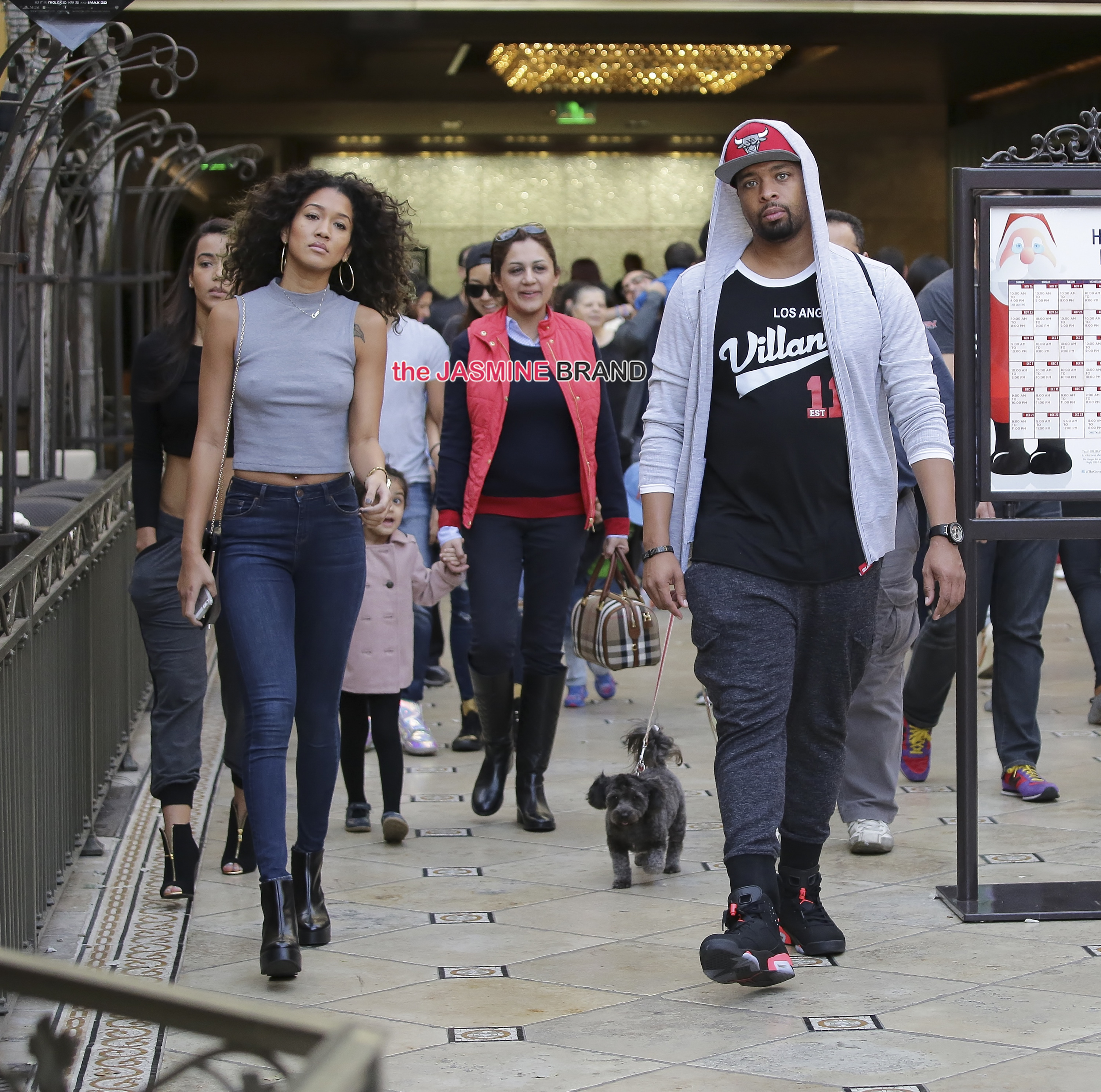 DeRay Davis and a mysterious woman go to the theatre in West Hollywood, California