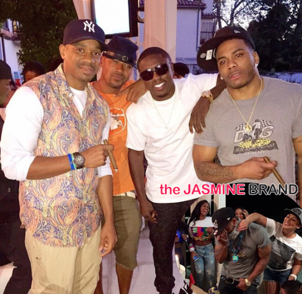 Duane Martin-Columbus Short-Nelly 40th Birthday Party-the jasmine brand