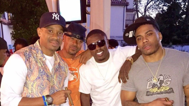 Nelly Celebrates 40th Birthday With Shantel Jackson, Nick Cannon, Columbus Short & Friends [Photos]