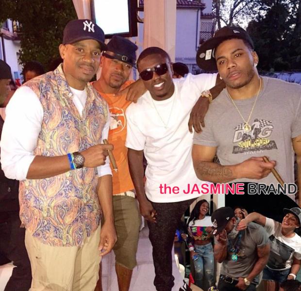Nelly Celebrates 40th Birthday With Shantel Jackson, Nick Cannon, Columbus Short & Friends [Photos]