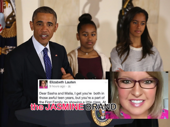 GOP Aide Chastises Obama's Daughters: 'Try Showing A Little Class' — Later Apologizes