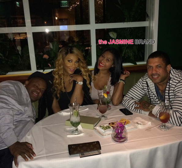 Ex LHHA Stars Benzino and Althea Spotted With Tamar Braxton Vincent Herbert-the jasmine brand