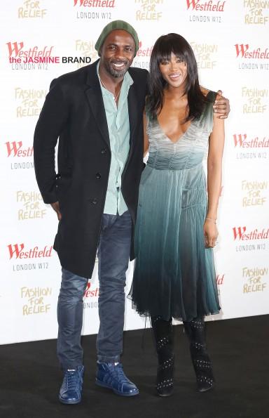 Idris, Naomi Campbell circa 2014