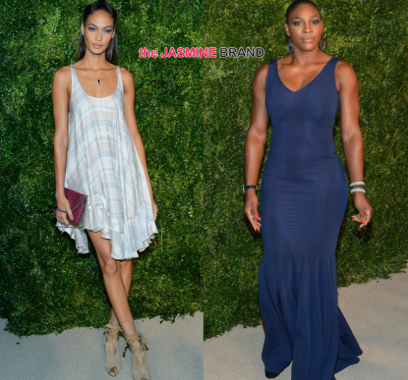 Joan Smalls-Serena Williams-11th Annual CFDA:Vogue Fashion Fund Awards-the jasmine brand