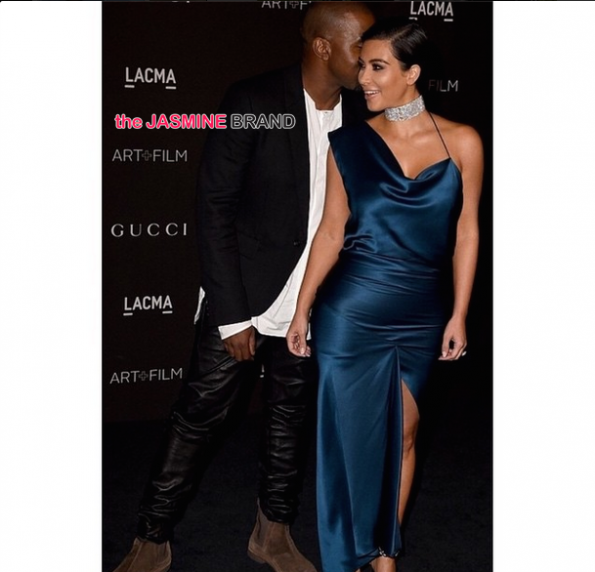 Kanye West and Kim Kardashian-LACMA-Art and Film Gala 2014-the jasmine brand