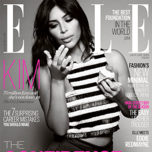 Kim Kardashian-ELLE Cover January 2015-the jamsine brand