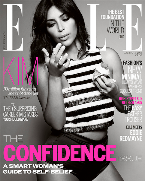 Cupcakes & Clothes! Kim Kardashian Covers Up For ELLE's 'Confidence Issue' [Photos]