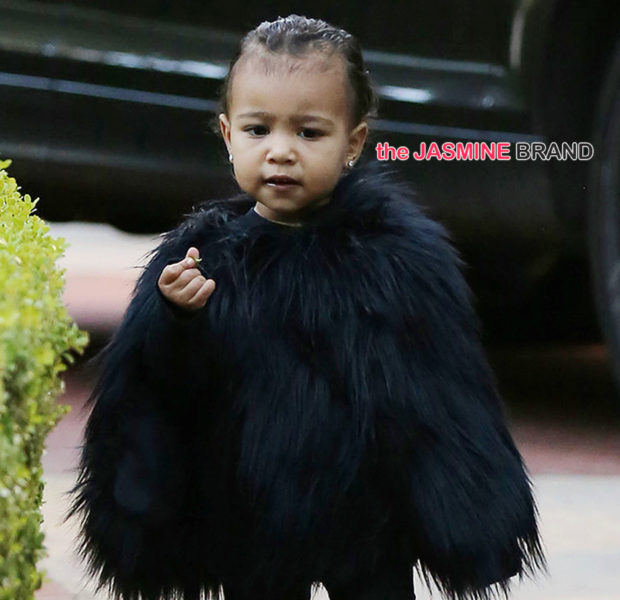 Kiddie Fashion! Baby North West Rocks A $1k Fur Cape [Photos]