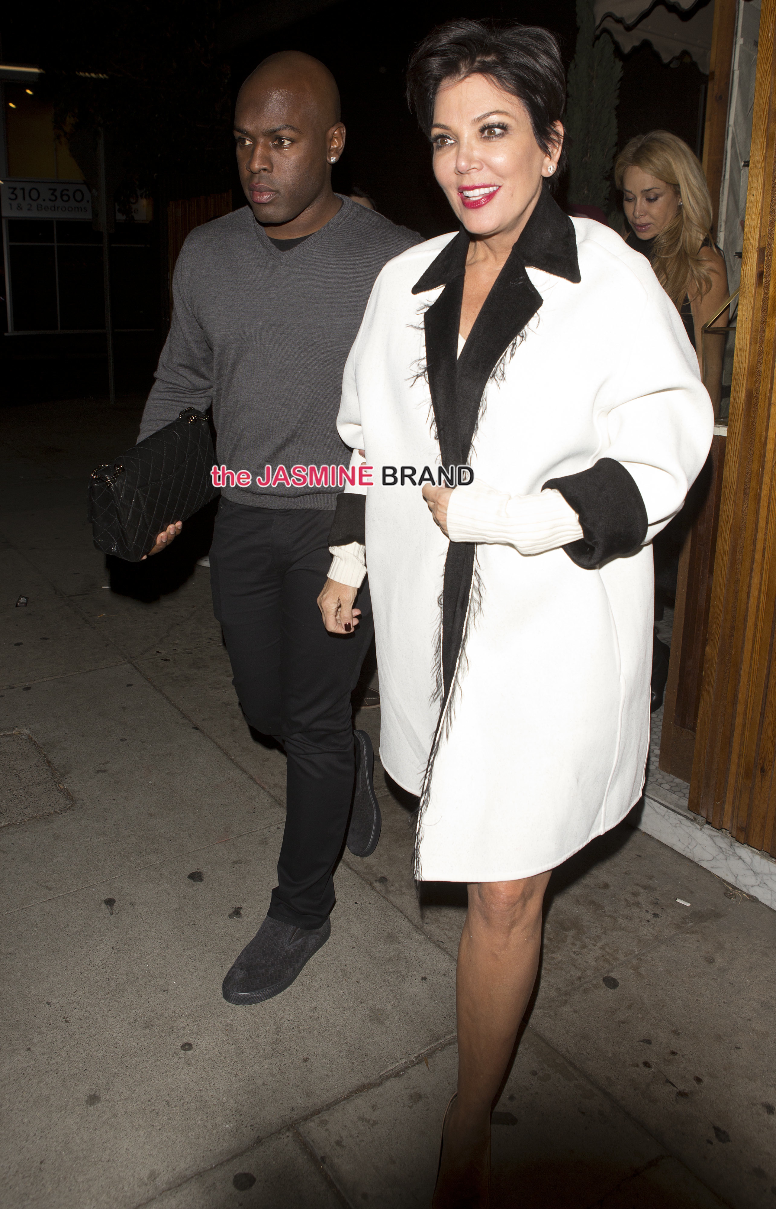 Kris Jenner looking worse for wear holding the arm on new boyfriend Corey Gamble as they were seen leaving 'The Nice Guy' Bar in West Hollywood, CA