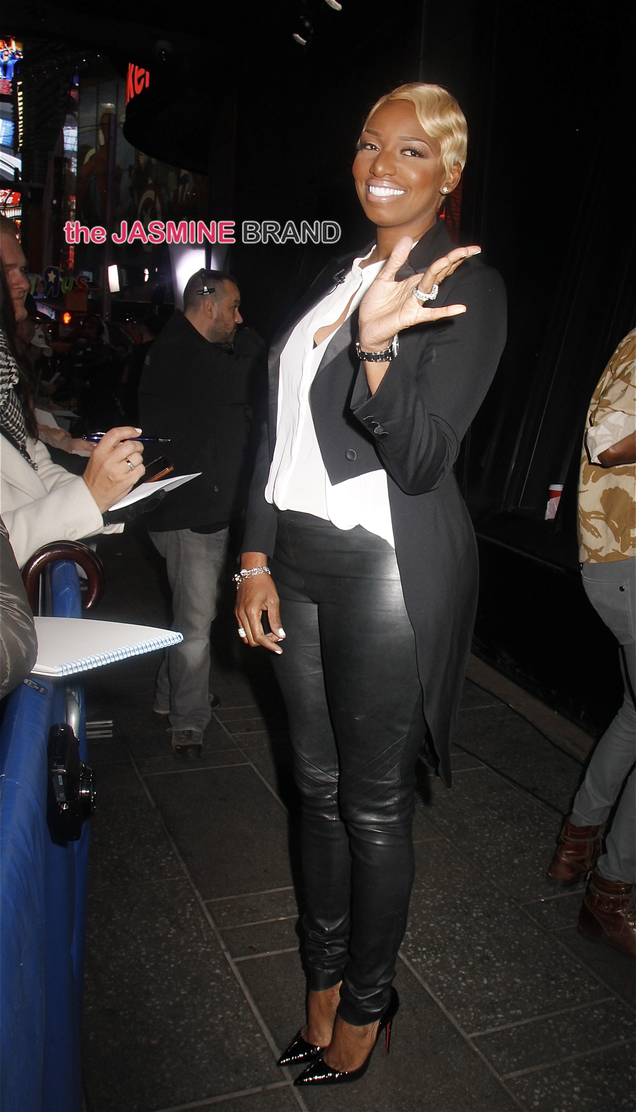 Reality TV star and actress NeNe Leakes visits 'Good Morning America' in NYC's Times Square
