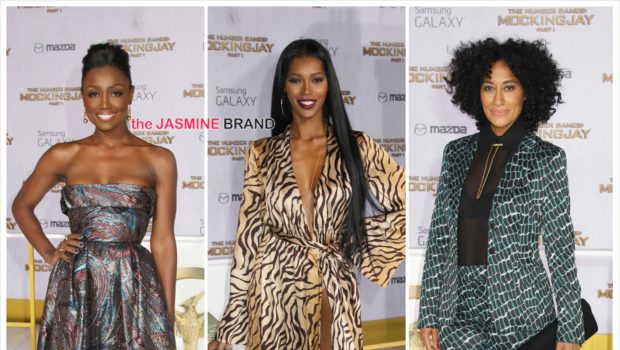 "Tracee Ellis Ross, Jessica White, Dallas Austin, Mario Lopez Attend ""The Hunger Games: Mockingjay – Part 1"" Premiere [Photos]"