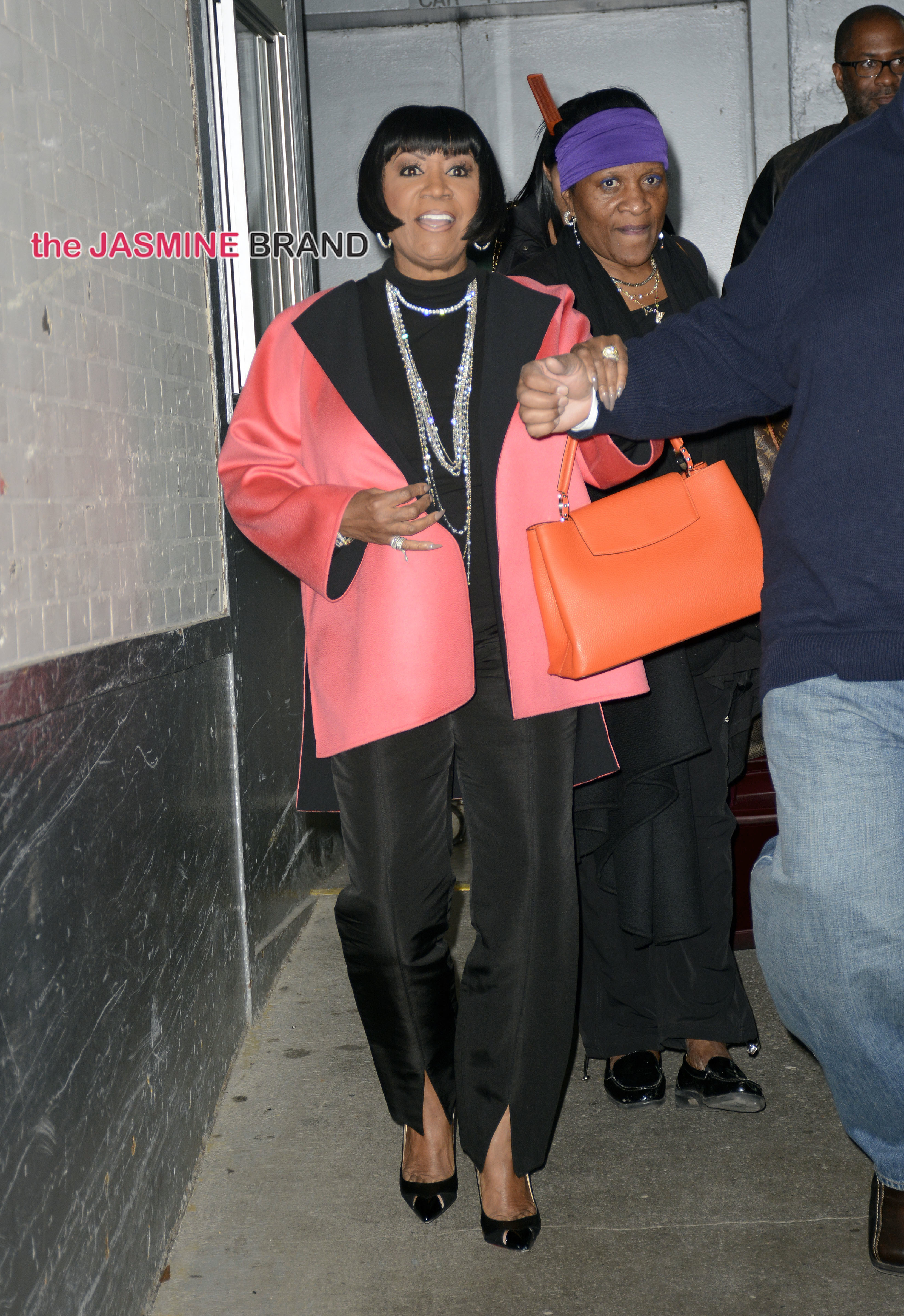 Patti LaBelle enters and exits the HuffPost Live studios, NYC
