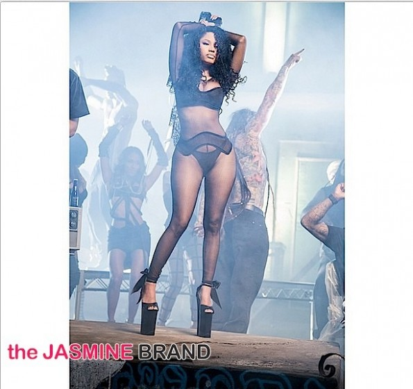 Rapper Nicki Minaj-BTS Only Video-the jasmine brand