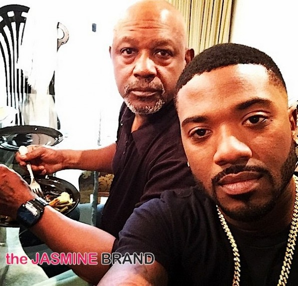 Ray J with his father