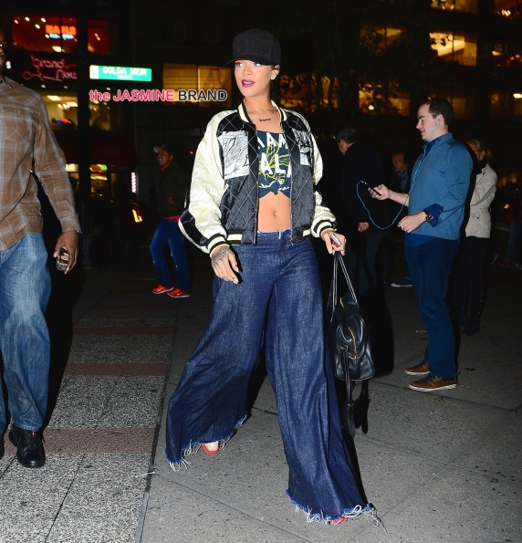 Rihanna heads to Roc Nation Headquarters to finalize her new album