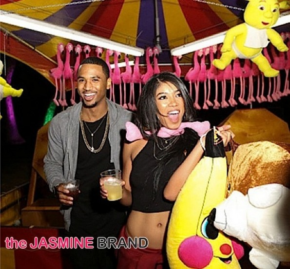 Rumored Girlfriend Mila J-Trigga30-Trey Songz Carnival Birthday Party-the jasmine brand