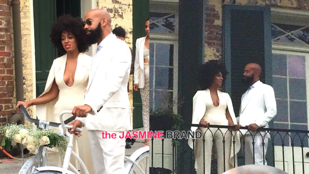 Solange Knowles Weds Alan Ferguson In New Orleans With Jay Z, Beyonce, Blue Ivy & Bicycles [Photos]
