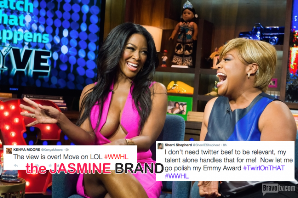 Twitter Beef-Watch What Happens Live-Kenya Moore-Sherri Shepherd-the jasmine brand