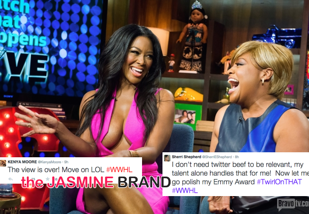 'I don't need Twitter to be relevant!' Sherri Shepherd & Kenya Moore Throw Insults After Awkward TV Appearance