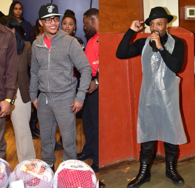 Celebrity Dopeness! T.I., Teddy Riley Donate Turkeys to ATL Residents [Photos]