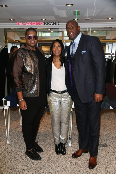E.J. Johnson, Cookie Johnson and Magic Johnson circa 2014