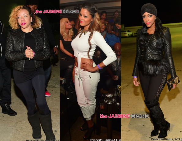 tameka tiny harris-claudia jordan-porsha williams-atl club compund-the jasmine brand
