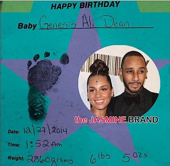 Ovary Hustlin': Alicia Keys & Swizz Beatz Deliver Healthy Baby Boy, Genesis Ali
