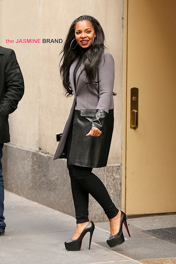 Ashanti spotted smiling while out and about in Rockefeller Plaza, after her appearance at the Today Show in New York City