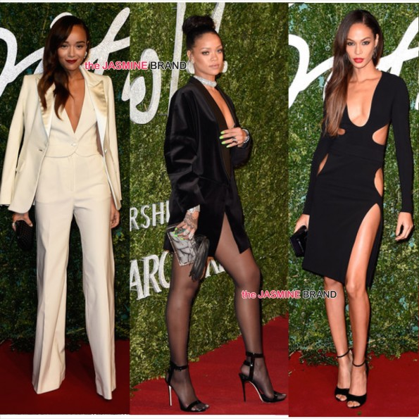 Ashley Madekwe-Rihanna-Joan Smalls-British Fashion Awards 2014-the jasmine brand