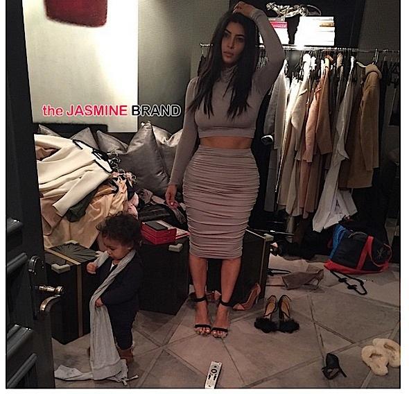 Baby North West-Helps Kim Kardashian-Get Dressed-the jasmine brand