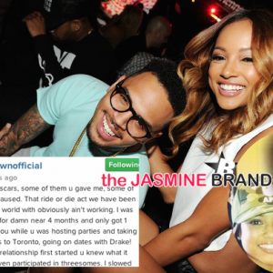 Chris Brown-Blames Drake-Karrueche Tran Split-the jasmine brand
