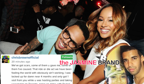 (UPDATE) Chris Brown Blames Drake For Split With Karrueche + Spills Threesome Details