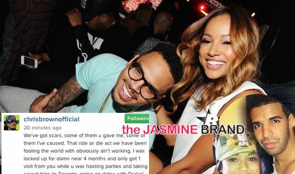(UPDATE) Chris Brown Blames Drake For Split With Karrueche + Spills Threesome Details